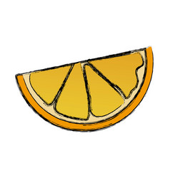 orange half fruit vitamin nutrition icon vector image