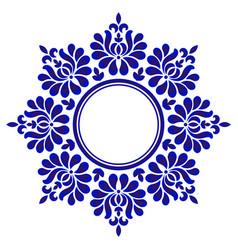 porcelain floral round vector image