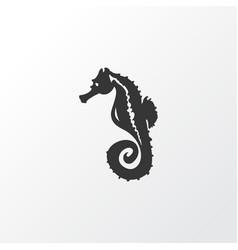 sea horse icon symbol premium quality isolated vector image