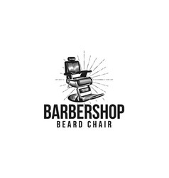 Seat chair barber shop vintage hand drawn barber vector