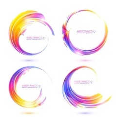 Set of colorful circle abstract frames vector