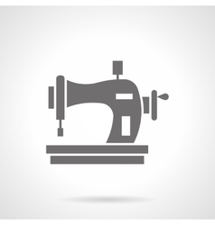 Sewing machine with spool glyph style icon vector image