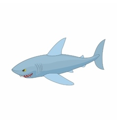 Shark icon in cartoon style vector image vector image