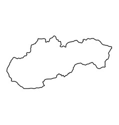 slovakia map of black contour curves of vector image