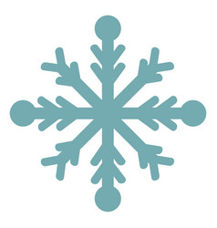 snowflake on white background vector image