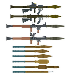 Soviet rocket launchers and grenades for rpg-7 vector