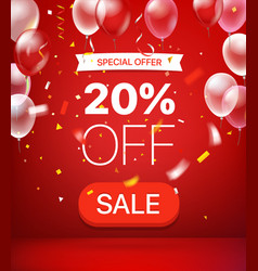 special offer concept 20 percent off vector image