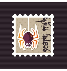 Spider halloween stamp vector