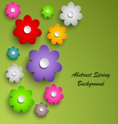Spring colorful floral abstract background vector image