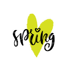 Spring love handwritting typography icon vector