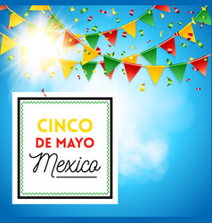 square shaped cinco de mayo mexico poster vector image