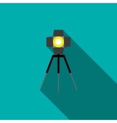 Studio lighting icon in flat style vector
