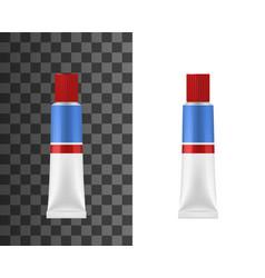 Super glue adhesive tube mockup vector