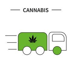 template hemp icon med vector image