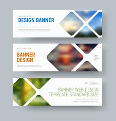 Template horizontal standard banners vector