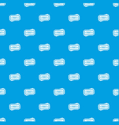 ticket pattern seamless blue vector image