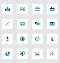 Trade colorful icons set collection of vector