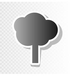 tree sign new year blackish vector image