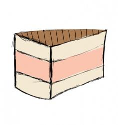 wedding cake sketch vector image
