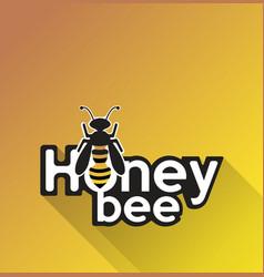 bee on yellow background vector image