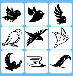 birds icons set vector image vector image