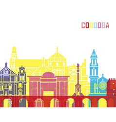 Cordoba skyline pop vector image vector image