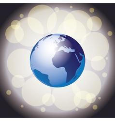 Earth on shiny background vector image vector image