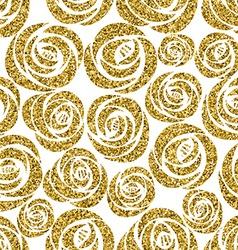 Golden roses seamless pattern design vector image vector image