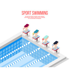 olympic pool swimming background vector image vector image