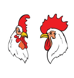 roosters head vector image vector image