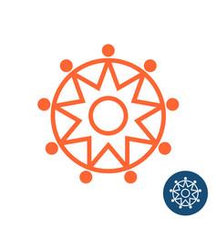 sun tribal geometric logo vector image