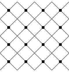 Black Square Diamond Grid White Background vector image