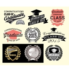 Graduation sector set for class of 2015 vector image