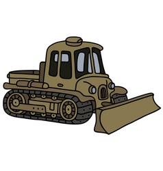 Vintage military tracked vehicle vector image