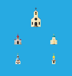 flat icon building set of traditional religious vector image vector image