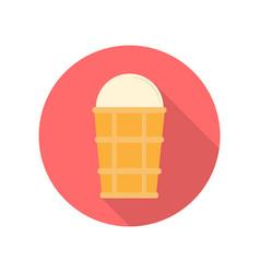 ice cream in flat design vector image vector image