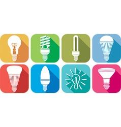 Lightbulb Icon Set vector image vector image