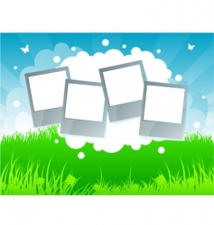 summer background grass vector image vector image