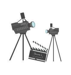 cinematography equipment cinema and movie vector image