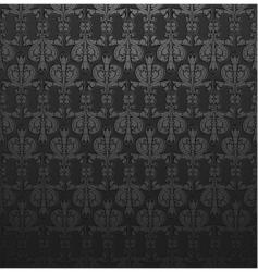 dark gray damask ornate wallpaper vector image