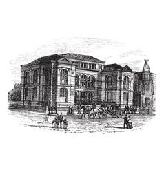 Massachusetts Lenox Library engraving vector image vector image