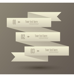 Set of numbered banner vector image