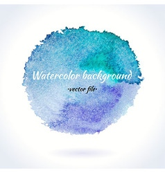 Watercolor Blue and Purple Circle vector image