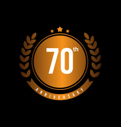 70th anniversary template design vector