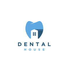 abstract minimalist dental clinic logo icon vector image
