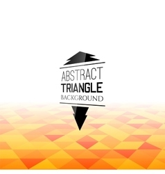 Abstract orange triangle field perspetive pattern vector image