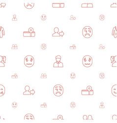 avatar icons pattern seamless white background vector image