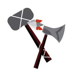 Axe and tomahawk native american indian weapon vector