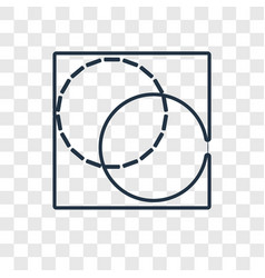 Background concept linear icon isolated on vector