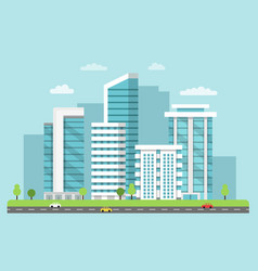 background of urban landscape with vector image